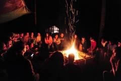 Camp Fire in Jungle Camp